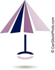 抽象的, アイコン, 傘, シンボル, 形づくられた