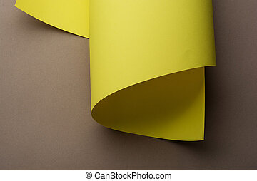 抽象的, イメージ, の, 黄色, ペーパー, 回転する, ∥で∥, コピースペース
