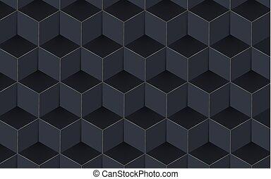 抽象的, イラスト, バックグラウンド。, ベクトル, 幾何学的, 3d