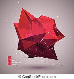 抽象的, イラスト, バックグラウンド。, 形, ベクトル, 幾何学的