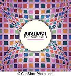 抽象的, イラスト, ベクトル, 背景, 地球儀, モザイク, 3d