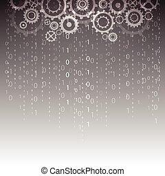抽象的, イラスト, 背景, ベクトル, デジタルの技術