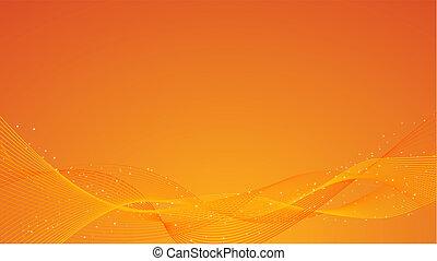 抽象的, オレンジ背景