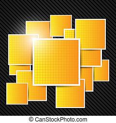 抽象的, オレンジ, バックグラウンド。, ベクトル, illustration.