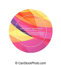 抽象的, カラフルである, 円, 背景