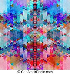 抽象的, カラフルである, 水彩画, 背景