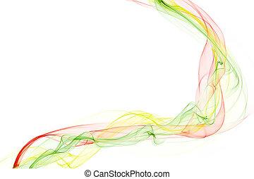 抽象的, カラフルである, 煙, 波