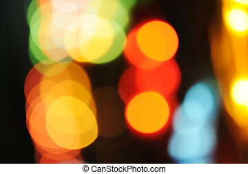抽象的, カラフルである, 美しい, ライト, 中に, ∥, 夜