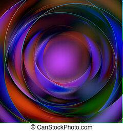 抽象的, カラフルである, 背景, 円