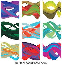 抽象的, カラフルである, 脳波