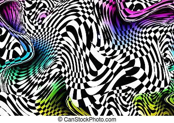 抽象的, カラフルである, 3d