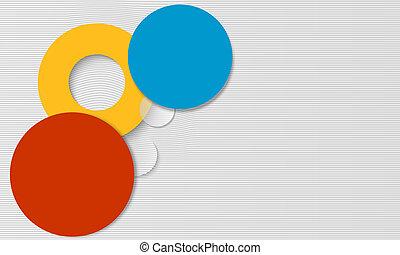 抽象的, カラードの背景, 円