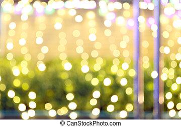 抽象的, クリスマスライト, の, バックグラウンド。