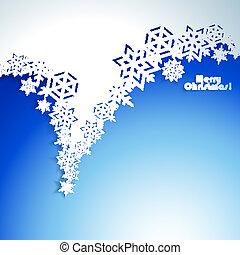 抽象的, クリスマス, 冬, backgroun