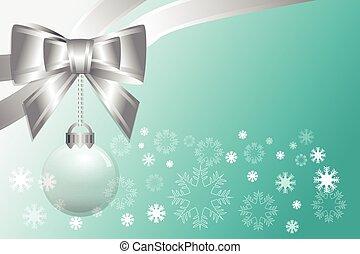 抽象的, クリスマス, 勾配, 緑の背景