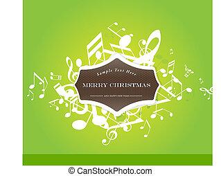 抽象的, クリスマス, 背景, tunes.