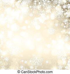抽象的, クリスマス, 金 背景