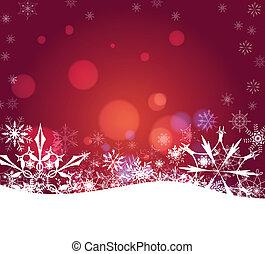 抽象的, クリスマス, 雪片