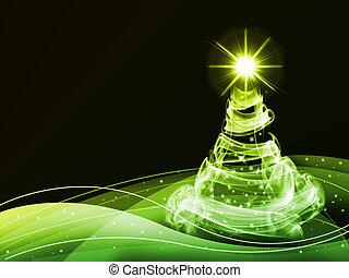 抽象的, クリスマス, 3, 上に, 黒い背景