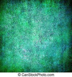 抽象的, グランジ, カラードの背景, 海洋
