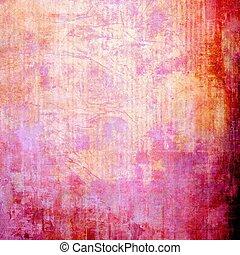 抽象的, グランジ, 背景, textured