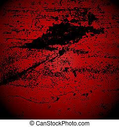 抽象的, グランジ, 赤い背景
