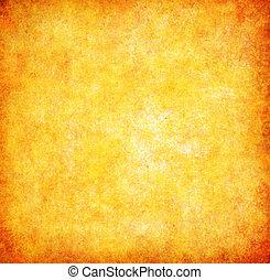 抽象的, グランジ, 黄色の背景, textured