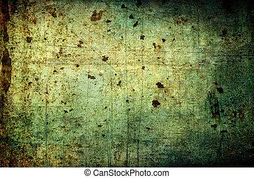抽象的, グランジ, background:, かく, 土, さび, 点