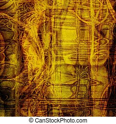 抽象的, グランジ, textured, 背景
