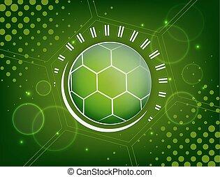抽象的, サッカー, デザイン, ボール