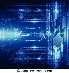 抽象的, システム, イラスト, 背景, ベクトル, 未来, 技術