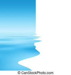 抽象的, シルエット, ∥で∥, 水反射, 背景