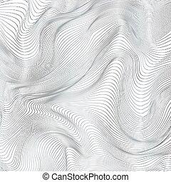 抽象的, ストライプ, ベクトル, 黒い背景, 白
