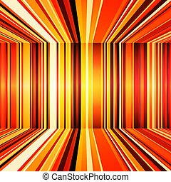 抽象的, ストライプ, 黄色, レトロ, オレンジ, 赤