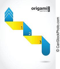 抽象的, スピーチ, origami, デザイン, 泡, 特別