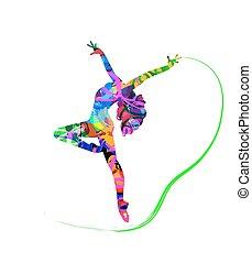 抽象的, ダンサー