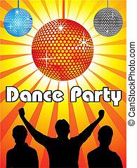 抽象的, ダンス, パーティー, デザイン
