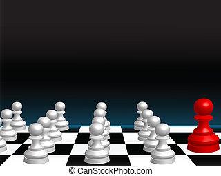 抽象的, チェス, 背景, 小片