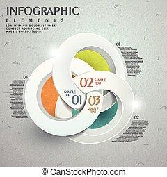 抽象的, テンプレート, infographic, デザイン