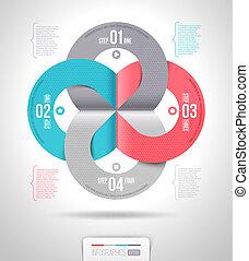 抽象的, テンプレート, infographics