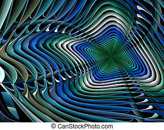 抽象的, ディジタル方式で生成された, カラードの背景
