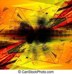 抽象的, デジタルの技術, 背景