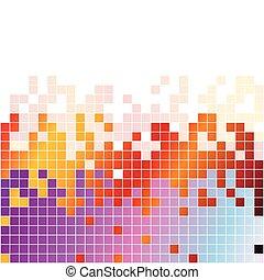 抽象的, デジタルバックグラウンド, ∥で∥, カラフルである, ピクセル, イコライザ