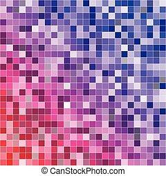 抽象的, デジタル, カラフルである, ピクセル, seamless, パターン, 背景