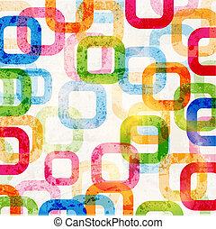 抽象的, ハイテク, 写実的な 設計, 円, パターン, 背景