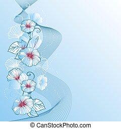 抽象的, バックグラウンド。, ベクトル, デザイン, 花, 流行, 花