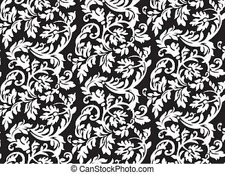 抽象的, バロック式, 花のパターン