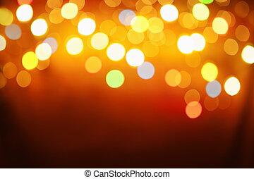 抽象的, パターン, から, ぼやけ, ライト