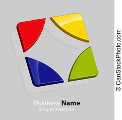 抽象的, ビジネス, ロゴ