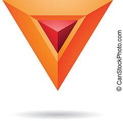 抽象的, ピラミッド, 三角形, アイコン